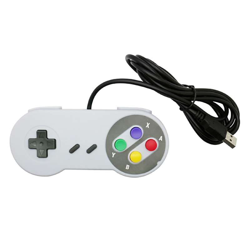 SNES Wired Game Controller Cross Button Gamepad VVG-28740