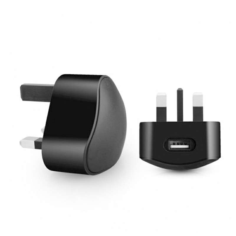 3 Pin USB Travel UK Wall Mains Charger Adaptor Plug for Mobile Cell Phone Smart