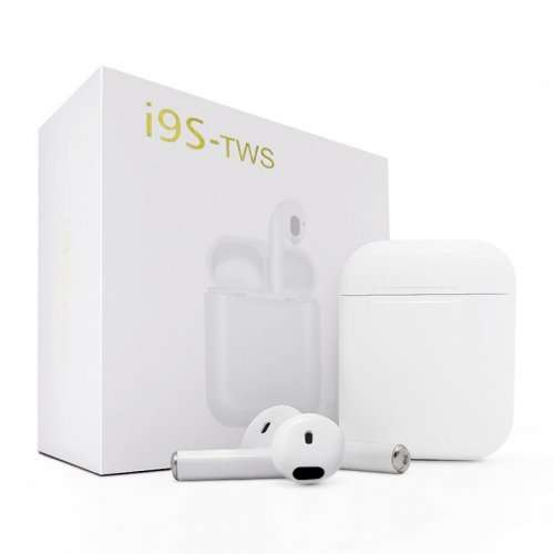 i9S TWS Bluetooth5.0 Headphones Twins Wireless In-Ear Stereo Earbuds - White