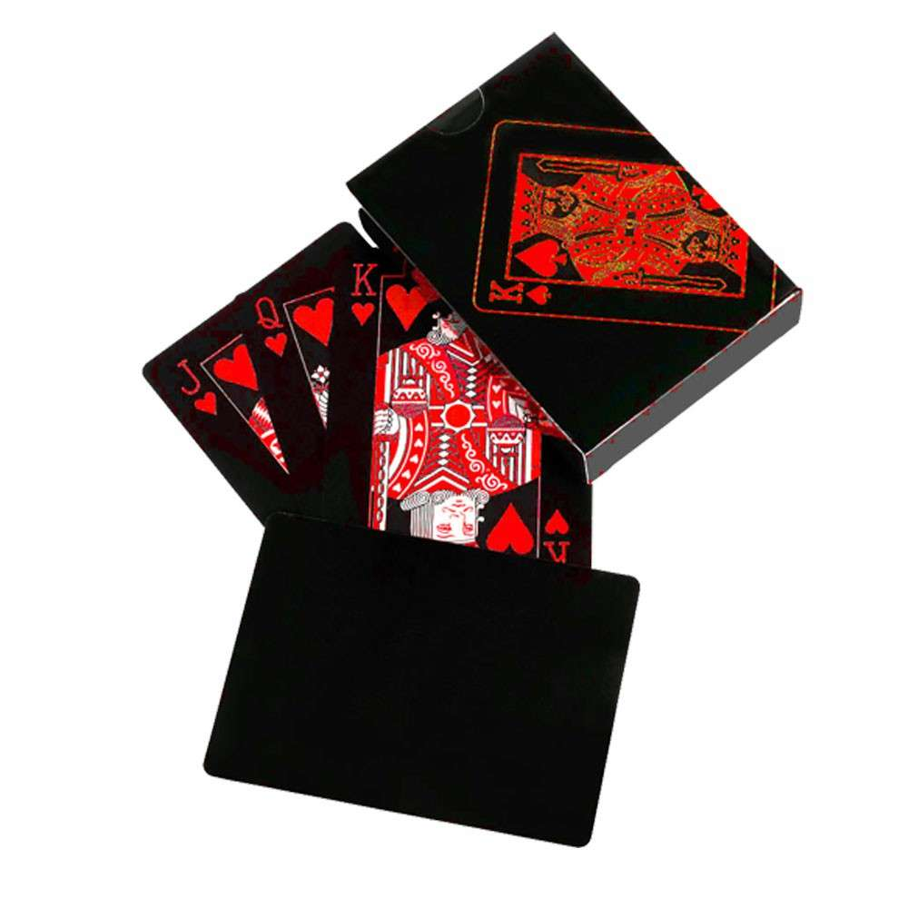 Waterproof Black Poker Playing Cards Plastic PVC Poker Creative Gift Durable UK