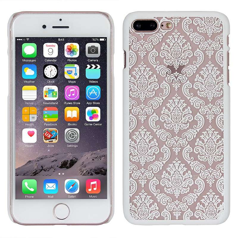 Fashion Transparent Palace Flower PC Cover Phone Case for iPhone7/8 | MKC-27277
