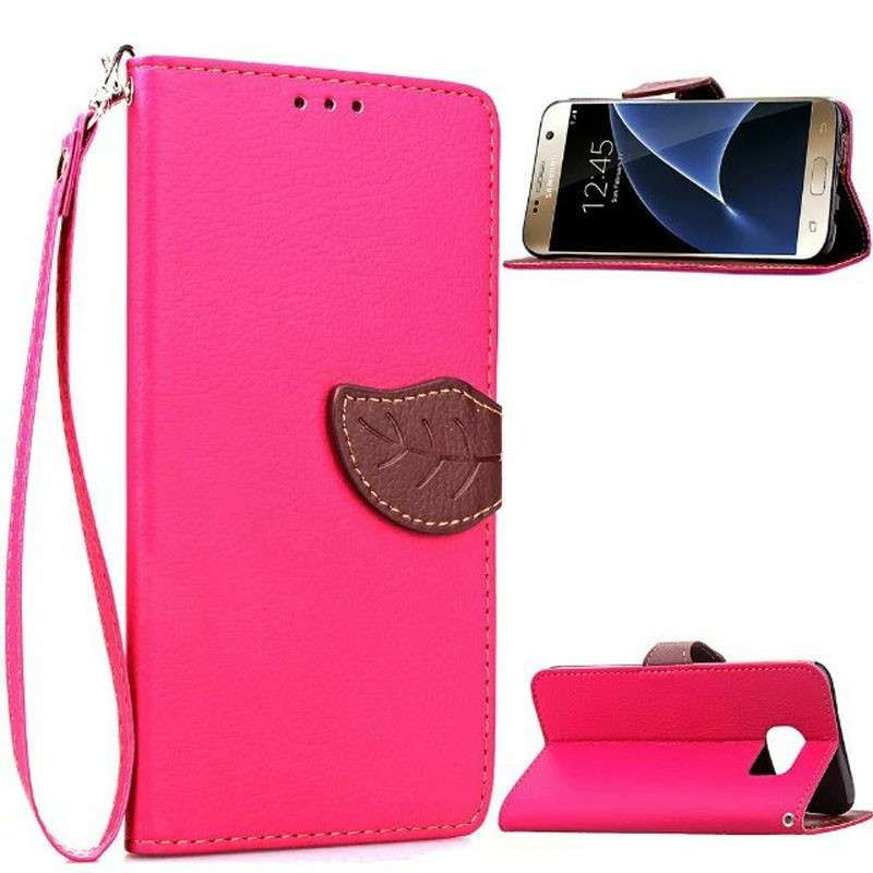 Leaf Clasp Magnetic Stand Flip Leather Case Cover for Samsung | MKC-19559