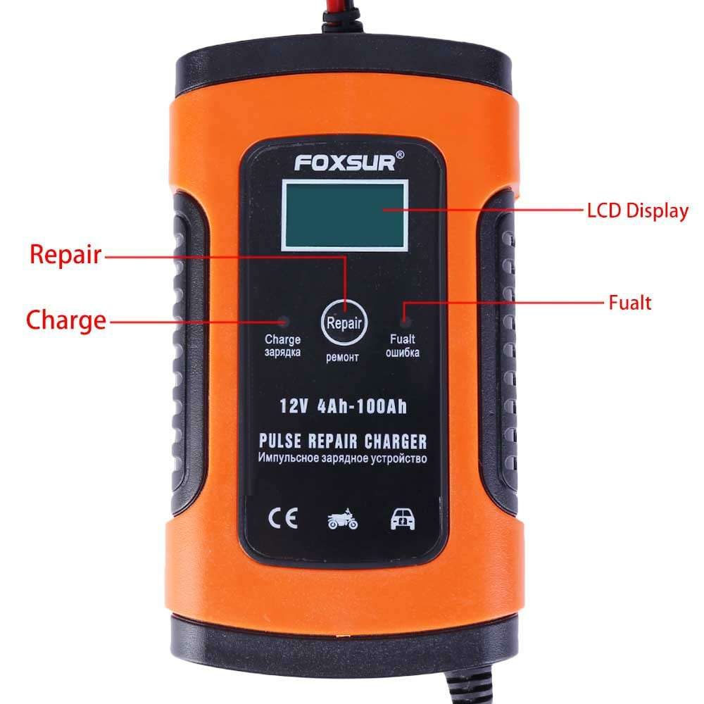 12V Automatic Electronic Intelligent Fast Universal Pulse UPS Battery Charger